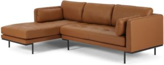 An Image of Harlow Left Hand Facing Chaise End Sofa, Denver Tan Leather