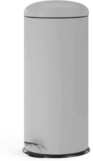 An Image of Joss 30L Domed Pedal Bin, Cool Gray
