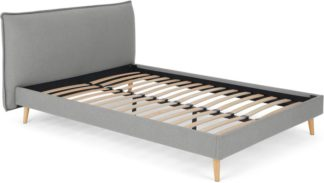 An Image of Piper Double Bed, Cool Grey
