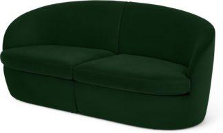 An Image of Reisa 2 Seater Sofa, Pine Green Velvet