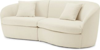 An Image of Reisa 3 Seater Sofa, Whitewash Boucle