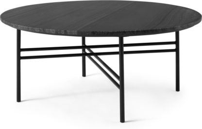An Image of Ailish Round Coffee table, Black Marble