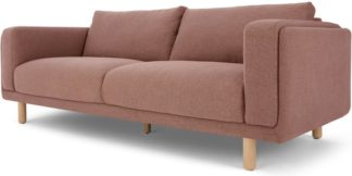 An Image of Karson 3 Seater Sofa, Mina Pink
