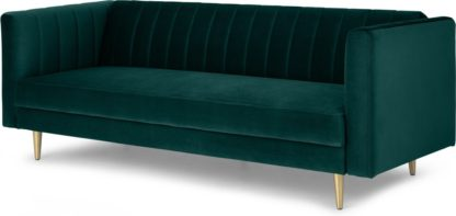 An Image of Amicie Sofa Bed, Seafoam Blue Velvet