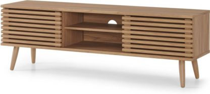 An Image of Tulma Wide TV Stand, Oak Effect
