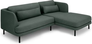 An Image of Herman Right Hand Facing Chaise End Corner Sofa, Woodland Green