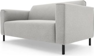 An Image of MADE Essentials Herron 2 Seater Sofa, Hail Grey