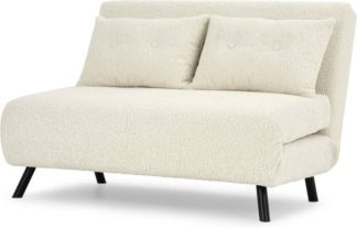 An Image of Haru Small Sofa Bed, Faux Sheepskin