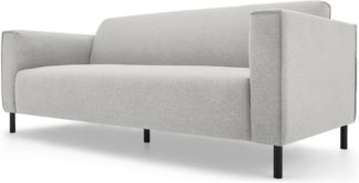 An Image of MADE Essentials Herron 3 Seater Sofa, Hail Grey