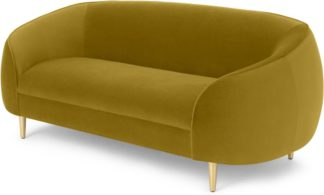 An Image of Trudy 2 Seater Sofa, Vintage Gold Velvet