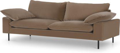 An Image of Fallyn 3 Seater Sofa, Mink Cotton Velvet