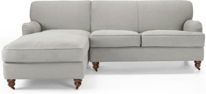 An Image of Orson Left Hand Facing Chaise End Corner Sofa, Chic Grey
