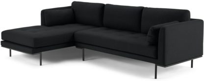 An Image of Harlow Left Hand Facing Chaise End Sofa, Elite Slate