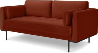 An Image of Harlow Large 2 Seater Sofa, Brick Red Vevet