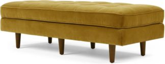 An Image of Scott Ottoman Bench, Gold Cotton Velvet