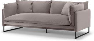 An Image of Malini 3 Seater Sofa, Latte Velvet