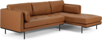 An Image of Harlow Right Hand Facing Chaise End Sofa, Denver Tan Leather