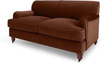An Image of Orson 2 Seat Sofa, Warm Caramel Velvet