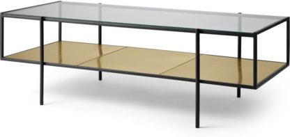 An Image of Cheney Coffee Table, Glass & Brass