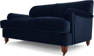 An Image of Orson 2 Seater Sofa, Ink Blue Velvet