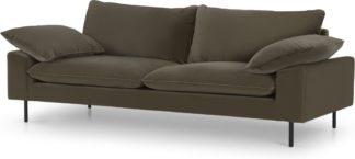 An Image of Fallyn 3 Seater Sofa, Cypress Cotton Velvet