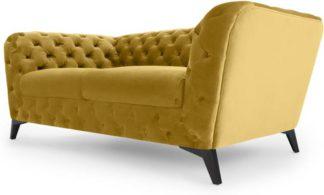 An Image of Sloan 2 Seater Sofa, Vintage Gold Velvet