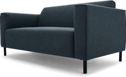 An Image of MADE Essentials Herron 2 Seater Sofa, Aegean Blue
