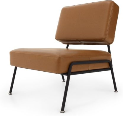 An Image of Knox Accent Armchair, Russet Brown Leather