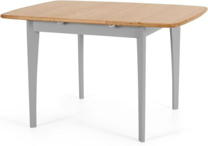 An Image of Monty 2-4 Seat Extending Dining Table, Oak & Grey