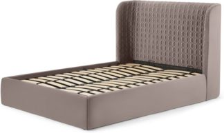 An Image of Tandy King Size Ottoman Storage Bed, Soft Mauve Velvet