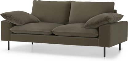 An Image of Fallyn Large 2 Seater Sofa, Cypress Cotton Velvet