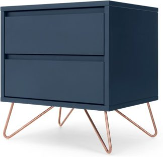 An Image of Elona Bedside, Dark Blue and Copper