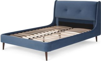 An Image of Raffety King Size Bed, Dawn Blue Velvet