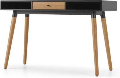 An Image of Edelweiss Desk, Oak and Black