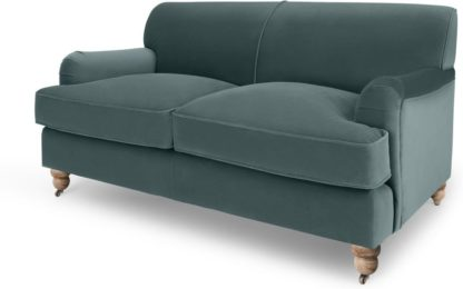 An Image of Orson 2 Seater Sofa, Marine Green Velvet