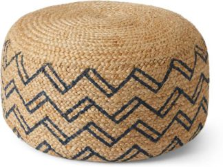 An Image of Elian Pouffe, Natural & Midnight Blue