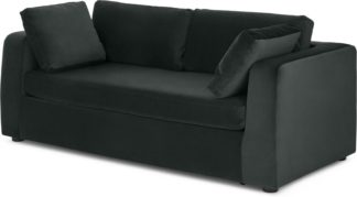 An Image of Mogen 3 Seater Sofa Bed, Dark Anthracite Velvet