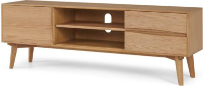 An Image of Wingrove Wide Media Unit, French Oak