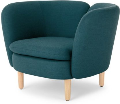 An Image of Elio Accent Armchair, Breeze Teal Weave
