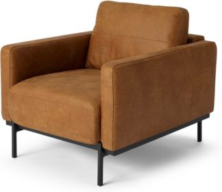 An Image of Jarrod Armchair, Outback Tan Leather