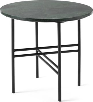 An Image of Ailish Large Round Side Table, Green Marble