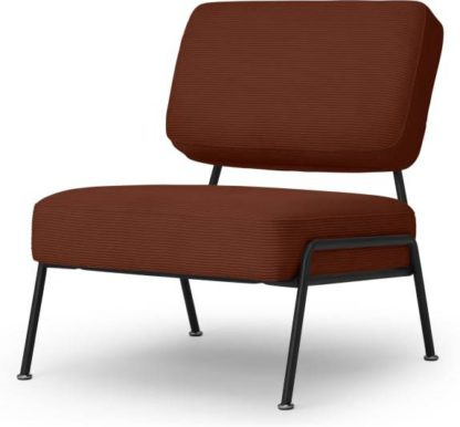 An Image of Knox Accent Armchair, Russet Corduroy Velvet