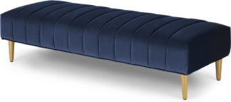 An Image of Amicie Ottoman Bench, Royal Blue Velvet
