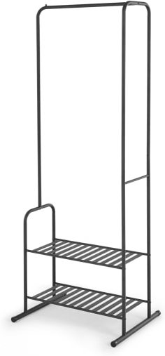 An Image of Kane Steel Garment & Storage Rack, Black