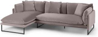 An Image of Malini Left Hand Facing Chaise End Sofa, Latte Velvet