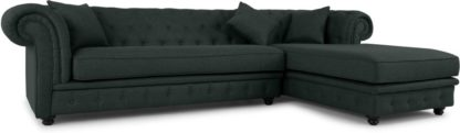 An Image of Branagh Right Hand Facing Chaise End Corner Sofa, Anthracite Grey
