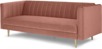 An Image of Amicie Sofa Bed, Blush Pink Velvet