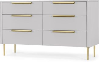 An Image of Ebro Wide Chest of Drawers, Grey