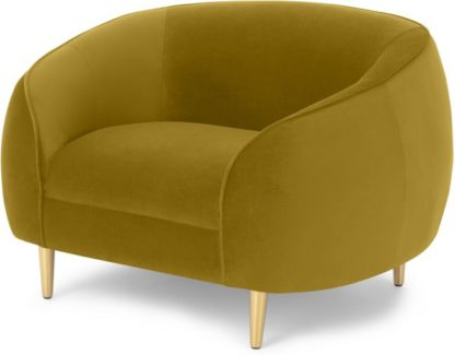 An Image of Trudy Armchair, Vintage Gold Velvet