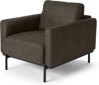 An Image of Jarrod Armchair, Truffle Brown Leather